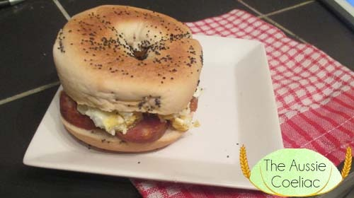 Gluten Free Breakfast Bagel