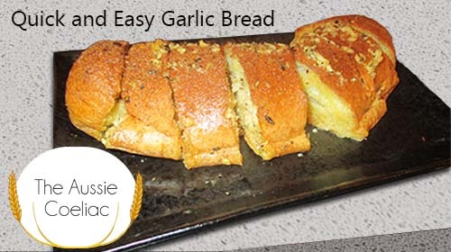 Quick and Easy 5 Ingredient Gluten Free Garlic Bread