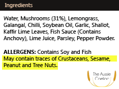 Ingredient Panel May Contain Statement