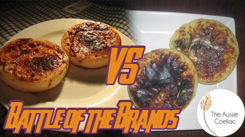 Battle of the gluten free crumpets