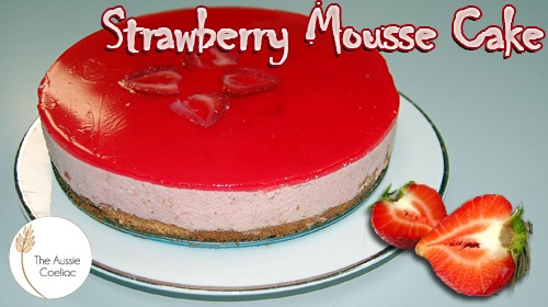 Gluten Free Strawberry Mousse Cake