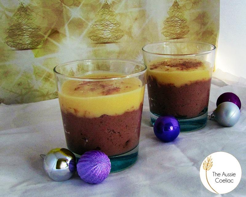 Gluten Free Dark Chocolate & Ricotta Mousse with Custard