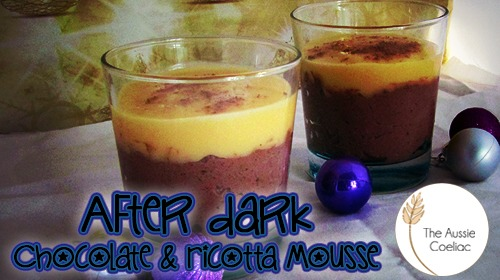 Gluten Free Dark Chocolate and Ricotta Mousse