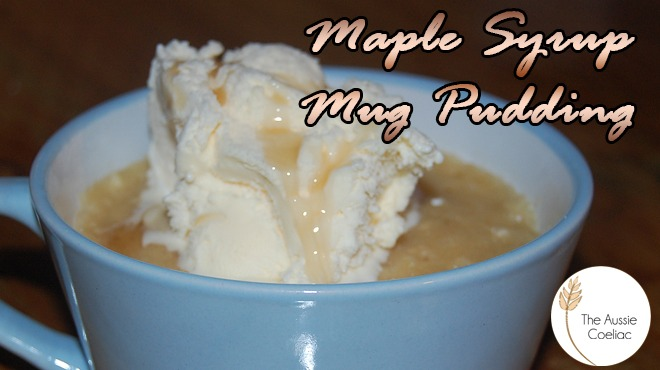 Gluten Free Maple Syrup Mug Pudding