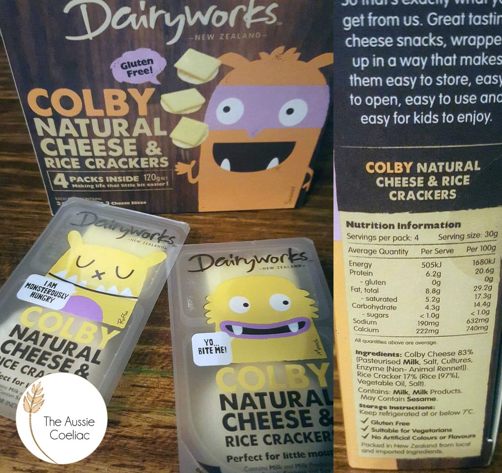 Gluten Free Dairyworks Cheese and Crackers