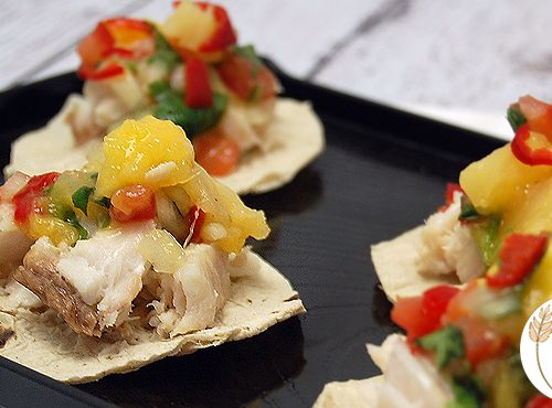 Coconut Poached Fish Tostadas With Tropical Chilli Salsa The