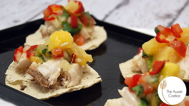 Coconut Poached Fish Tostadas