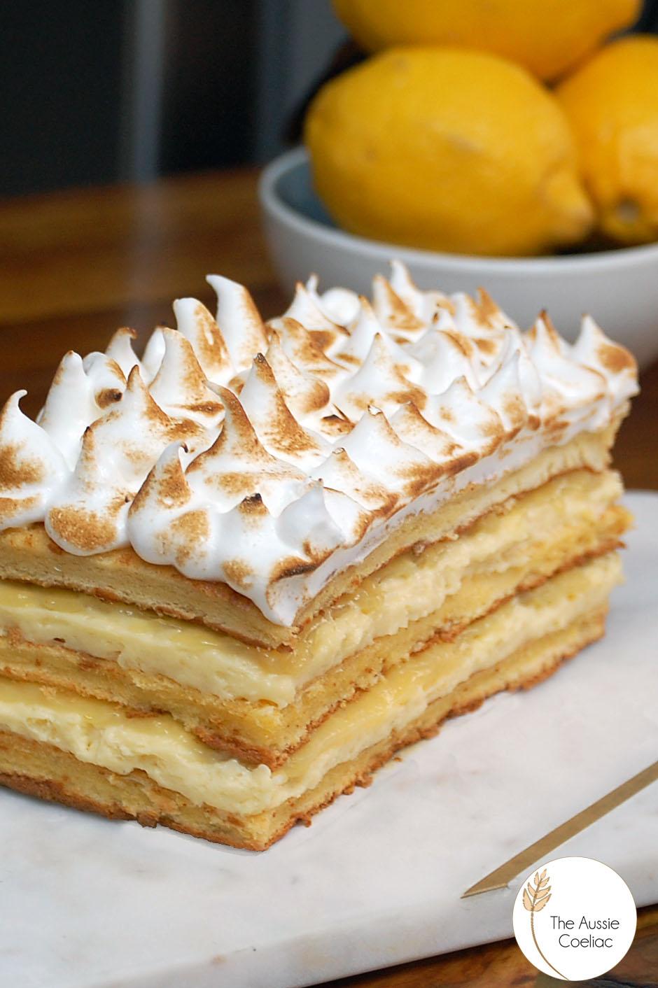 Lemon Meringue Layer Cake The Aussie Coeliac