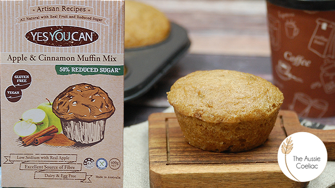 Yes You Can Apple & Cinnamon Muffins • The Aussie Coeliac